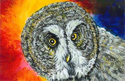 Artist Richard Brooks Painting - None The Wiser. by Richard Brooks