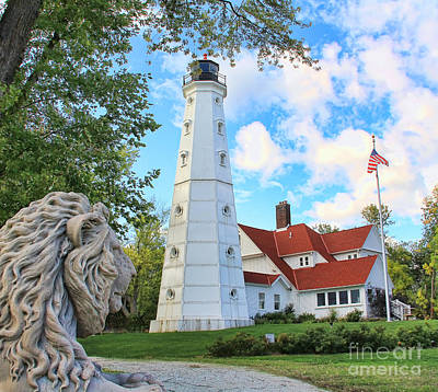 North Point Lighthouse Print by Jack Schultz