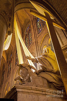 Mother Mary Photograph - Notre Dame Cross by Brian Jannsen