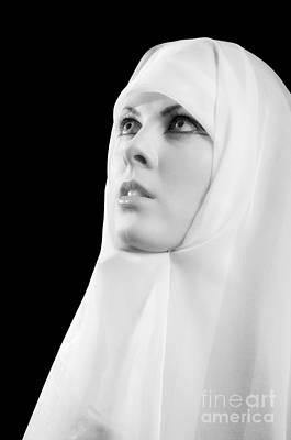 Nun Praying Print by Aleksey Tugolukov