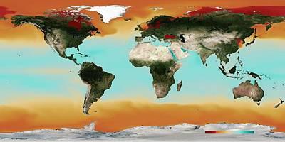 Ocean Carbonate Saturation Print by Noaa