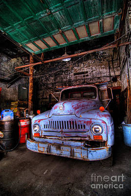 Old Pickup Truck Hdr Print by Amy Cicconi