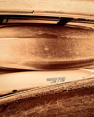 Boats Photograph - Old Town Canoes by Bob Orsillo