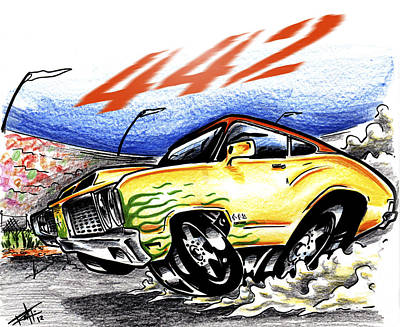 Drag Mixed Media - Olds by Big Mike Roate
