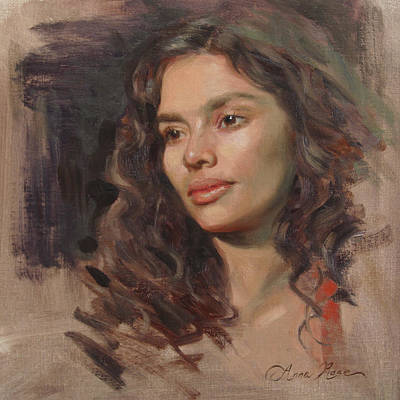 Beautiful Portrait Painting - Olivia by Anna Rose Bain