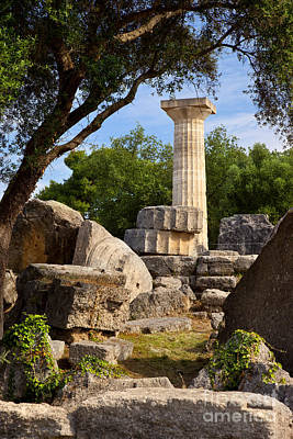 Zeus Photograph - Olympia Ruins by Brian Jannsen