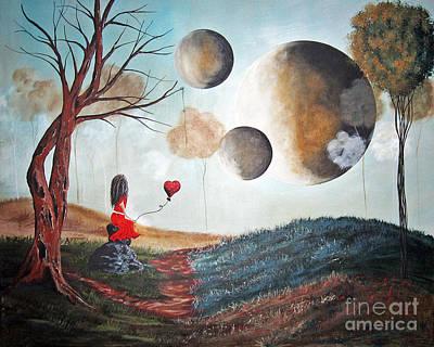 Dali Like Painting - One Wish At A Time By Shawna Erback by Shawna Erback
