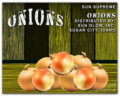 Onion Farm Print by Marvin Blaine
