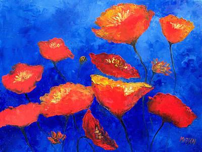 Orange Poppies Print by Jan Matson