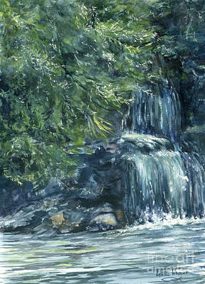 Rural Scenes Painting - Oregon Waterfall by Lynne Wright