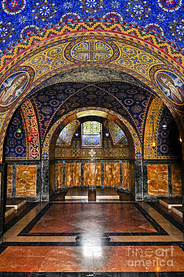 Marble Mosaic Photograph - Orthodox Church Interior by Elena Elisseeva