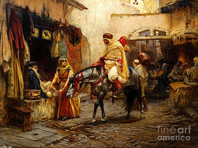 Prayer Painting - Ottoman Daily Life Scene by Celestial Images
