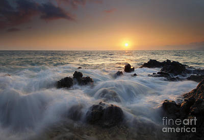Maui Photograph - Over The Rocks by Mike  Dawson