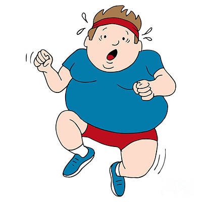 Overweight Runner Print by John Takai
