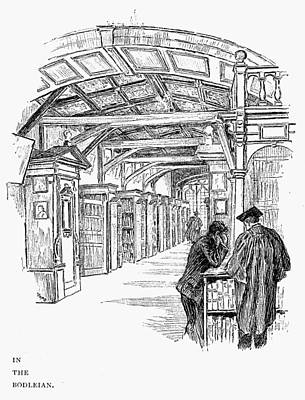Stamps Drawing - Oxford Bodleian Library by Granger