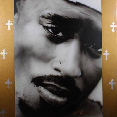 Tupac Painting - '2 Pac' by Christian Chapman Art