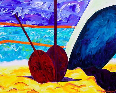 Paddling Painting - 2 Paddles by Beth Cooper