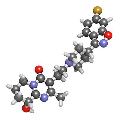 Paliperidone Drug Molecule Print by Molekuul