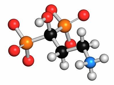 Pamidronic Acid Osteoporosis Drug Print by Molekuul