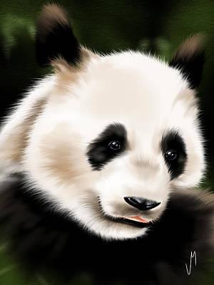 Digital Painting - Panda by Veronica Minozzi