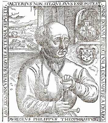 Paracelsus, Swiss Alchemist Print by Science Photo Library