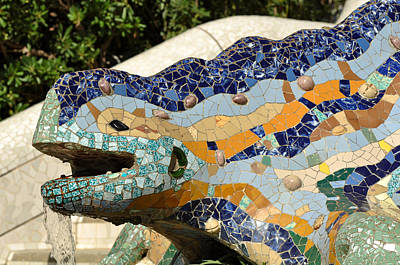 Barcelona Photograph - Parc Guell In Barcelona Spain by Brandon Bourdages