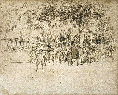 Belle Epoque Drawing - Paris Champs Elysees by Granger