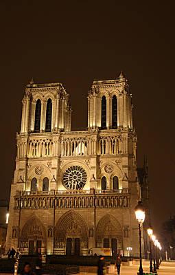 Paris France - Notre Dame De Paris - 01131 Print by DC Photographer