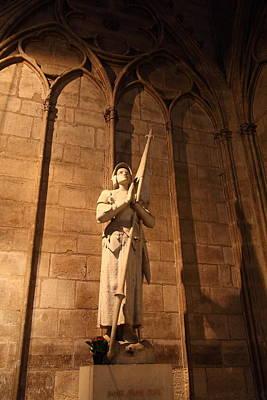 Paris France - Notre Dame De Paris - 01137 Print by DC Photographer