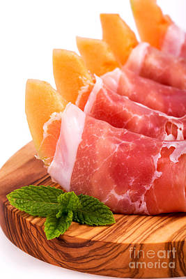 Parma Ham And Melon Print by Jane Rix