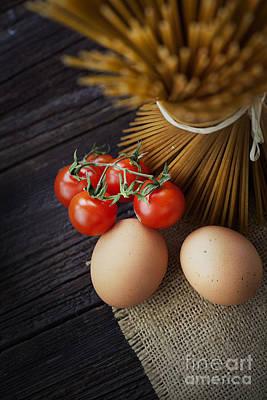Mythja Photograph - Pasta Ingredients by Mythja  Photography