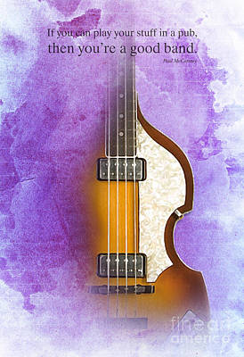 Mccartney Digital Art - Paul Mccartney Quote - Bass by Pablo Franchi