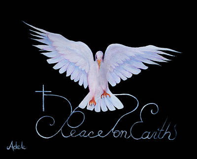Peace On Earth Painting - Peace On Earth by Adele Moscaritolo