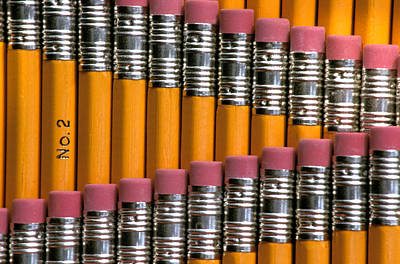 Large Group Of Objects Photograph - #2 Pencils  Standing Up by Anonymous