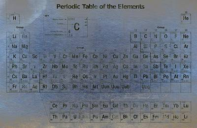Periodic Table Of The Elements Print by T Lang