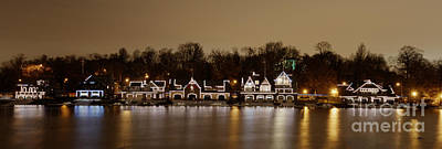 Boathouse Row Photograph - Philadelphia's Boathouse Row At Night by Mark Ayzenberg