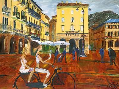Piazza De Como Print by Gregory Allen Page