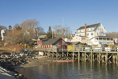 Pier In Tenants Harbor Maine Print by Keith Webber Jr