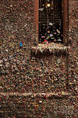Pike Place Market Gum Wall In Alley Print by Jim Corwin