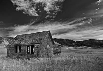 Ghost Town Photograph - Pioneer Cabin   by Leland D Howard