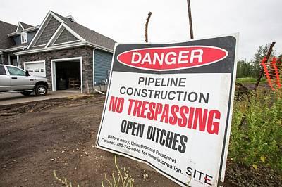 Destruction Photograph - Pipeline Construction by Ashley Cooper