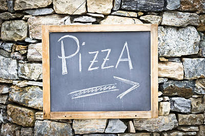 Light Lunch Photograph - Pizza Sign by Tom Gowanlock