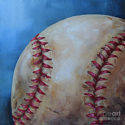 Kristine Painting - Play Ball by Kristine Kainer