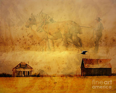Judy Wood Digital Art - Ploughing The Sky by Judy Wood
