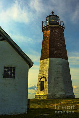 Brick Building Photograph - Point Judith Lighthouse by Diane Diederich