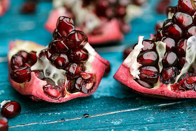 Red Fruit Photograph - Pomegranate by Nailia Schwarz