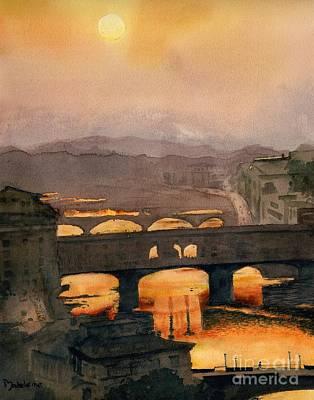 Ponte Vecchio Print by Madeleine Holzberg