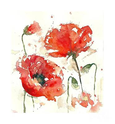 Loose Style Painting - Poppies by Deborah Carman