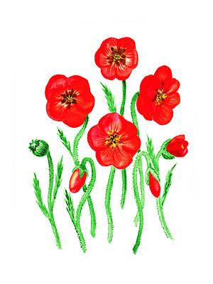 Poppies Print by Irina Sztukowski