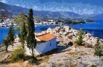 Paint Painting - Poros Island by George Atsametakis